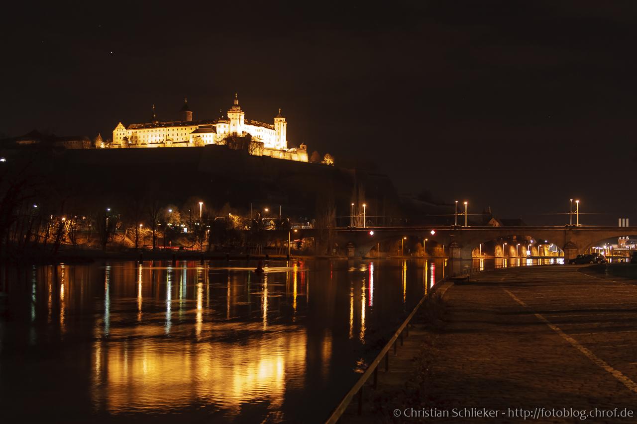 Würzburger Festung Nacht