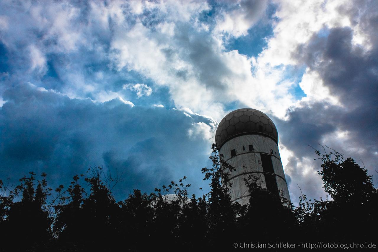 Radarstation Teufelsberg Wolken