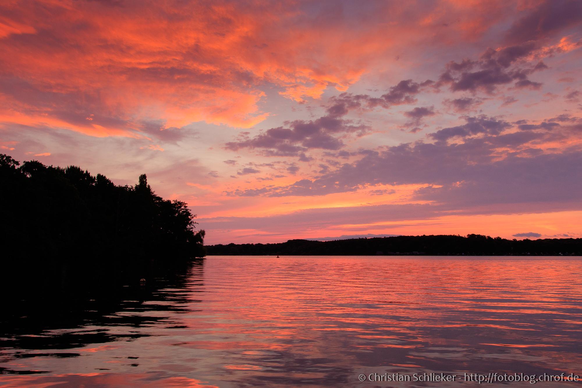 Sonnenaufgang über dem Schweriner Ziegelsee